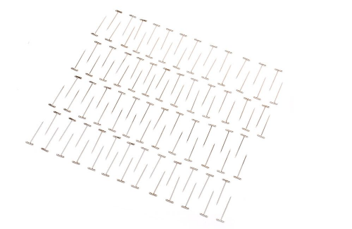 "Modelling pins Dubro 1.5"" (38mm) Nickel Plated T-Pins (100 Pack) T-DB254"